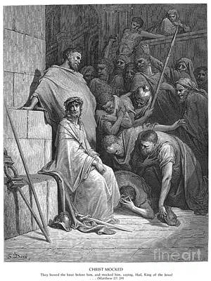 Dore: Christ Mocked Art Print by Granger