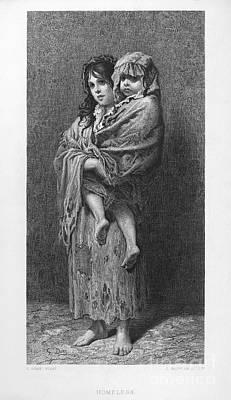 Dore: Homeless, C1869 Art Print by Granger