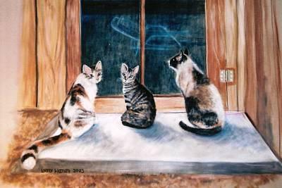 Doreen's Cats Art Print