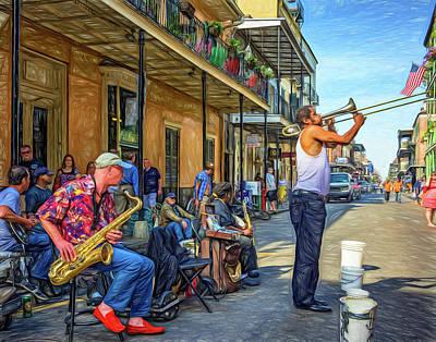 Doreen's Jazz New Orleans - Paint Art Print