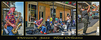 Triptych Photograph - Doreen's Jazz New Orleans Triptych by Steve Harrington