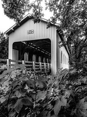 Mosby Photograph - Dorena Bridge Black And White by Michele James