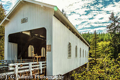Photograph - Dorena Covered Bridge by Jim Adams