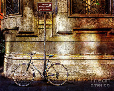 Photograph - Doria Pamphilj Bicycle by Craig J Satterlee