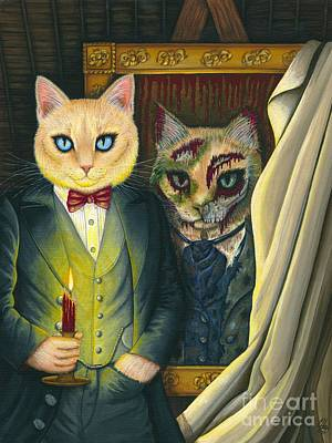 Painting - Dorian Gray by Carrie Hawks