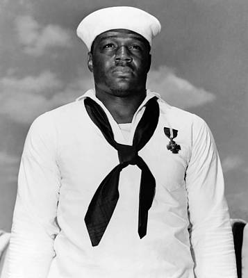 Us Navy Photograph - Dorie Miller by War Is Hell Store