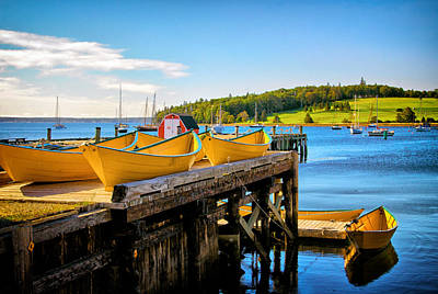 Photograph - Dories On The Dock by Carolyn Derstine