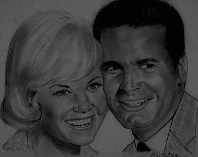 Drawing - Doris And Jim by Barb Baker