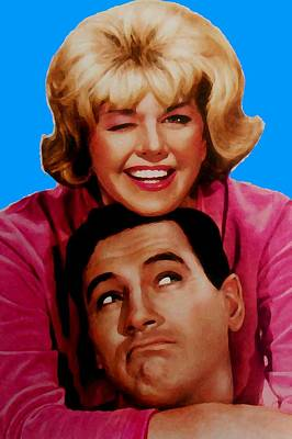 Doris Day Rock Hudson  Print by Paul Van Scott