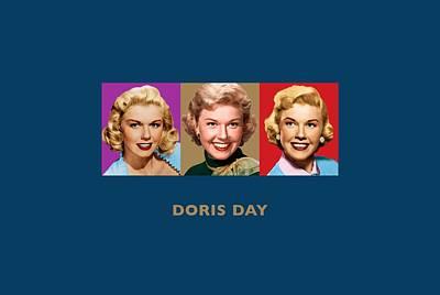 Que Sera Wall Art - Digital Art - Doris Day - Triptych Designs by David Richardson