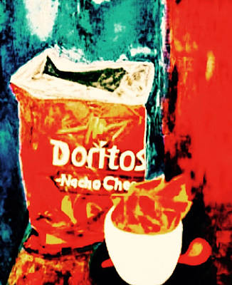 Tortillas Painting - Doritos by Nazdira Litvinov