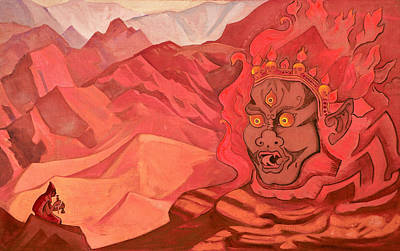 Traquil Painting - Dorje, The Daring One by Nicholas Roerich
