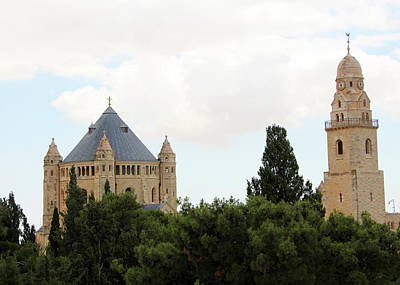 Photograph - Dormition Church Trees by Munir Alawi