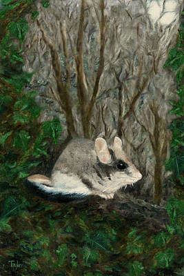 Painting - Dormouse In Ivy by FT McKinstry