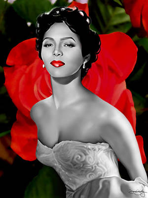 Roses Digital Art - Dorothy Dandridge by Davonte Bailey