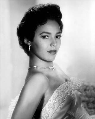 Diamond Earrings Photograph - Dorothy Dandridge, No Date by Everett