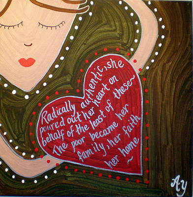Painting - Dorothy Day by Angela Yarber