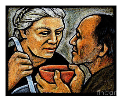 Painting - Dorothy Day Feeding The Hungry - Jlddf by Julie Lonneman