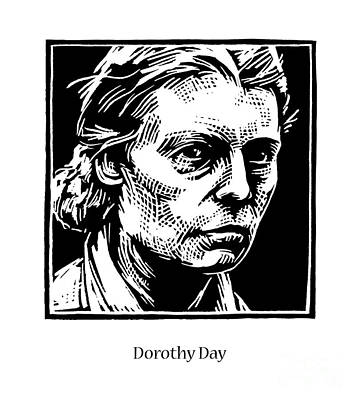 Painting - Dorothy Day - Jldod by Julie Lonneman