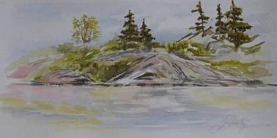 Painting - Dorothy Lake Island by Joanne Smoley