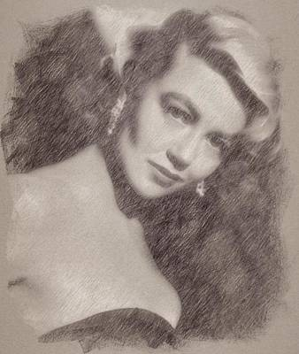 Celebrities Paintings - Dorothy Malone by Esoterica Art Agency