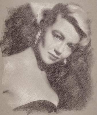 Dorothy Malone Art Print by Esoterica Art Agency