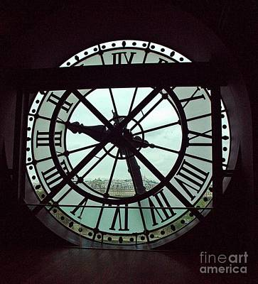 Photograph - dOrsay Clock  by Lilliana Mendez