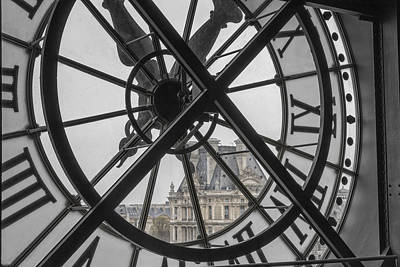 D'orsay Clock Paris Art Print by Joan Carroll
