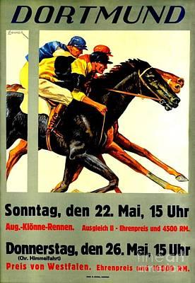Race Horse Painting - Dortmund German Horse Racing A. Lahner 1927 by Peter Gumaer Ogden Collection