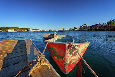 Photograph - Dory At The Dock by Rick Berk