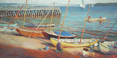 Beach Oil Painting - Dory Beach by Steve Henderson