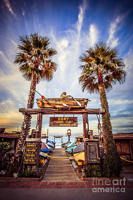 Dory Photograph - Dory Fishing Fleet Market Picture Newport Beach by Paul Velgos