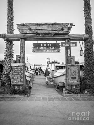 Dory Photograph - Dory Fishing Fleet Picture In Newport Beach California by Paul Velgos