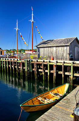 Photograph - Dory In Lunenburg Harbour by Carolyn Derstine