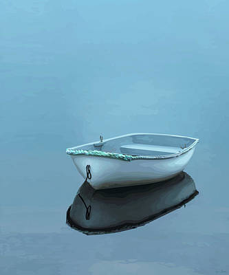 Rowboat Digital Art - Dory In Lunnenberg Harbour - 3 by Brian Shaw