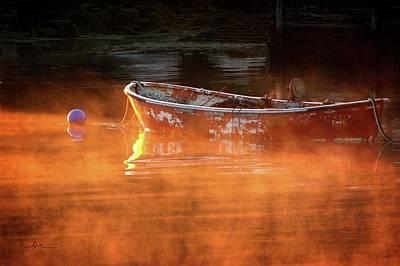 Photograph - Dory In Orange Mist by Bill Linn