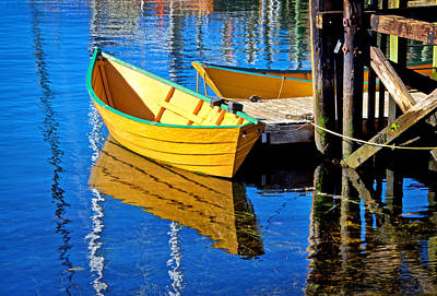 Photograph - Dory Reflections by Carolyn Derstine