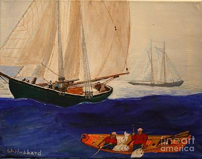 Dory Trawlers On Georges Bank Art Print