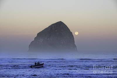 Tim Moore Photograph - Dory Under A Blue Moon by Tim Moore