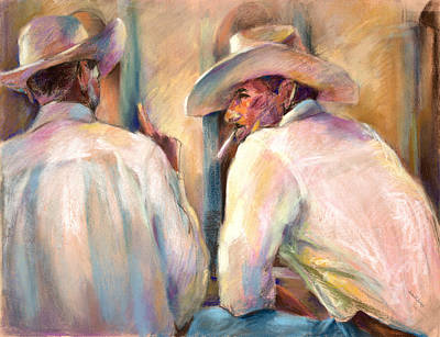 Dos Amigos Art Print by Joan  Jones