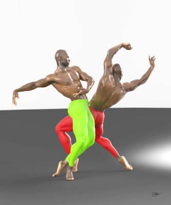 Ballet Dancers Digital Art - Dos Bailarines by Joaquin Abella