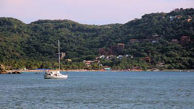 Photograph - Dos Leos Zinuatanejo Bay by Jim Walls PhotoArtist