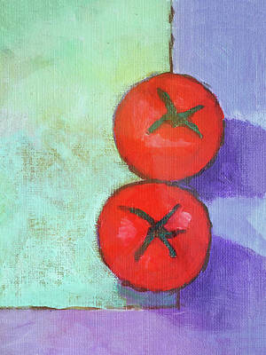 Dos Tomates Art Print by Arte Costa Blanca