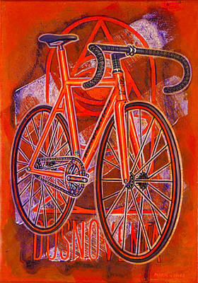 Painting - Dosnoventa Houston Flo Orange by Mark Howard Jones