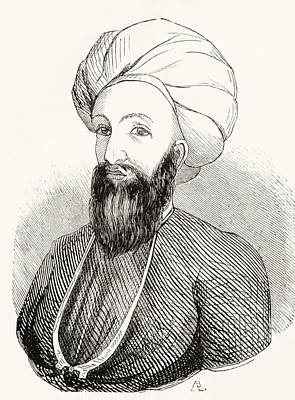 Mohammad Drawing - Dost Mohammad Khan, 1793 by Vintage Design Pics