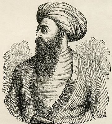 Mohammad Drawing - Dost Mohammad Khan, 1793 To 1863. Emir by Vintage Design Pics