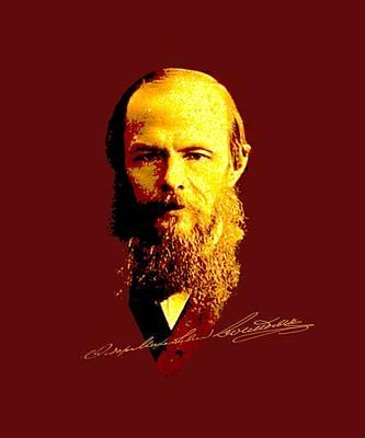 Mixed Media - Dostoyevsky by Asok Mukhopadhyay