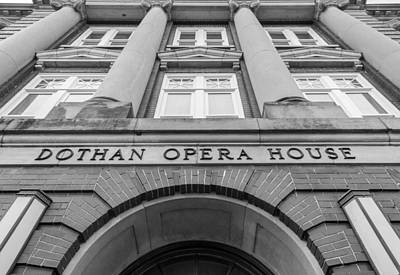 Dothan Opera House In Black And White Art Print by Jeremy Raines