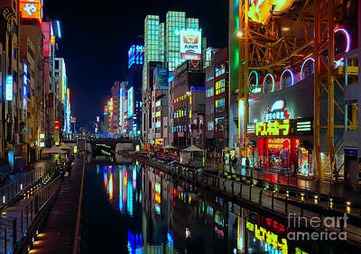 Photograph - Dotonbori-gawa Canal At Night by Ari Salmela
