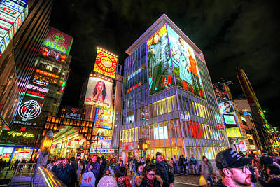 Photograph - Dotonbori Osaka by Wayne Sherriff